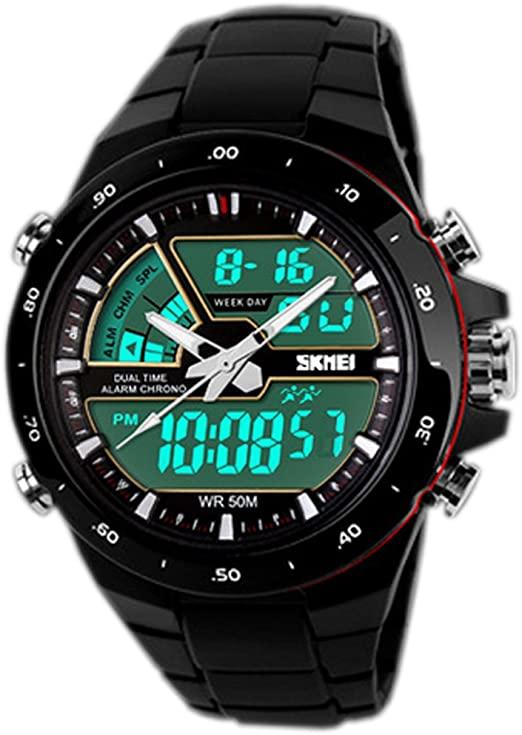 4- Relojes digitales hombre: Pixnor Hora Dual Weide WH-1104
